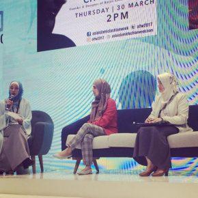 Barjis Chohan speaking on Women Empowerment at AIFW2017 in Kuala Lumpur, Malaysia.