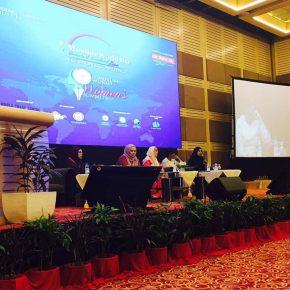 Barjis Chohan speaking at the OIC World Biz Summit in Kuala Lumpur, Malaysia.